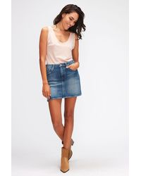 7 For All Mankind A-line Skirt Pier - Blue