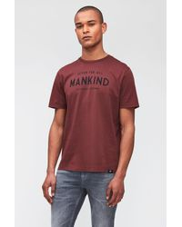 7 For All Mankind Logo Tee Jersey Burgundy - Red