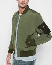 7 For All Mankind - Military Patch Bomber In Army - Lyst