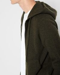 7 For All Mankind - Zipper Hoodie In Fatigue - Lyst