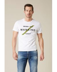 7 For All Mankind Logo Tee Cotton 7/all White