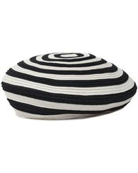 7 For All Mankind - Brixton Audrey Straw Hat In Black And White - Lyst