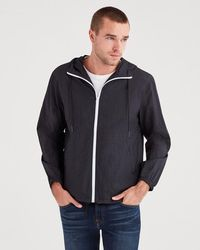 7 For All Mankind - Packable Parachute Windbreaker In Black - Lyst