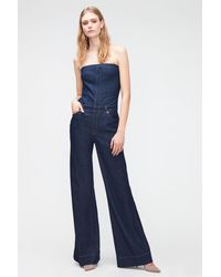7 For All Mankind Bustier Jumpsuit Topanga - Blue