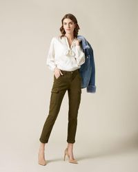 7 For All Mankind Cargo Chino Brushed Twill Army - Green