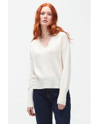 7 For All Mankind V-neck Cashmere Winter White
