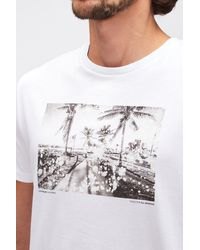 7 For All Mankind Graphic Tee Cotton Beach White