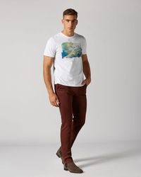 7 For All Mankind Extra Slim Chino Luxe Performance Sateen Burgundy - Multicolour