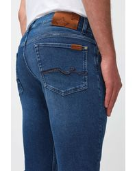 7 For All Mankind Ronnie Special Edition Stretch Tek Eco Falling - Blue
