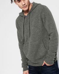 7 For All Mankind - Pullover Sweater Hoodie In Heather Charcoal - Lyst