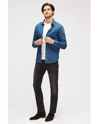 7 For All Mankind Slimmy Luxe Performance Plus Washed Black