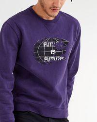 7 For All Mankind Future Is Future Crewneck In Faded Violet - Purple