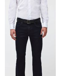 7 For All Mankind Classic Belt Leather Black
