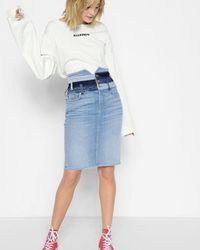 7 For All Mankind - Patchwork Corset Skirt In Patchwork Found - Lyst