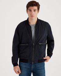 7 For All Mankind - Washed Poplin Bomber In Black - Lyst