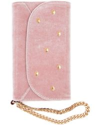 7 For All Mankind Sonix Velvet Wristlet Iphone Case In Rose - Pink