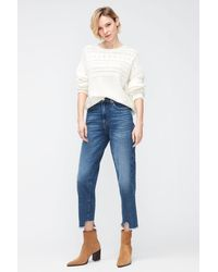 7 For All Mankind Malia Luxe Vintage Rejoice With Destroyed Hem - Blue