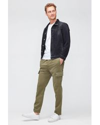 7 For All Mankind Cargo JOGGER Luxe Performance Sateen Olive Green
