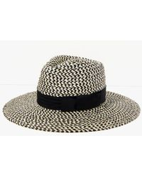 7 For All Mankind | Joanna Hat In Black And Cream | Lyst