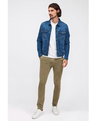7 For All Mankind Slimmy Chino Tapered Luxe Performance Sateen Vintage Light Army - Green