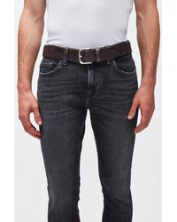 7 For All Mankind Timeless Belt Leather Brown - Multicolour