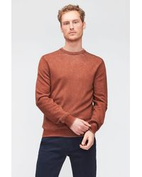 7 For All Mankind Crew Neck Knit Merino Fast Dye Burnt Orange - Multicolour