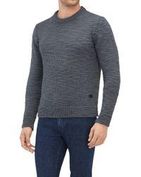 7 For All Mankind - Crew Neck Knit Wool Slub Dark Grey - Lyst