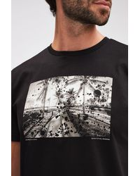 7 For All Mankind Graphic Tee Cotton Beach Black