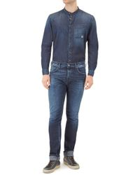 7 For All Mankind - Chad Luxe Performance Powerful Deep Blue - Lyst