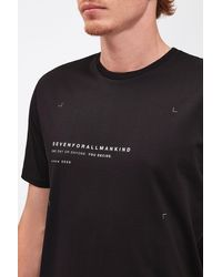 7 For All Mankind Graphic Tee Cotton One Day Black