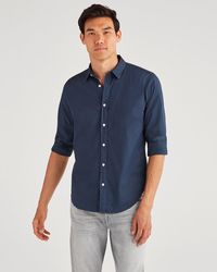7 For All Mankind Commuter Shirt In Pigment Navy - Blue
