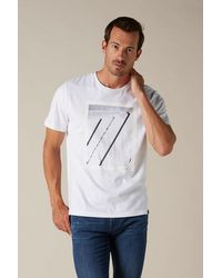 7 For All Mankind Graphic Tee Cotton 7 Architecture White