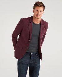 7 For All Mankind Ace Modern Blazer In Burgundy - Purple