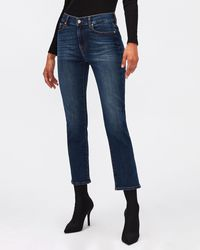 7 For All Mankind The Straight Crop Soho Dark - Blue