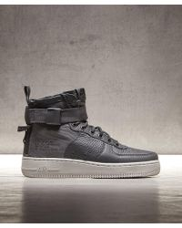 5a55432f385 Lyst - Nike Sf Air Force 1 Mid Trainer in Black for Men
