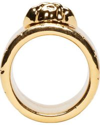 Versace Bold Wide Band Medusa Ring - Lyst