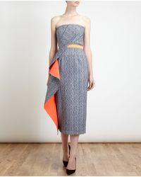 Roksanda Ilincic Herringbone Bustier Dress - Lyst