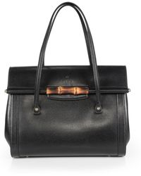 Gucci New Bullet Leather Tophandle Bag - Lyst