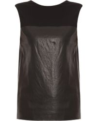 Alexander Wang Jersey And Leather Top - Lyst