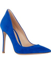 Gianvito Rossi Suede Point-Toe Pumps - Lyst