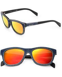 Diesel 52mm Denim Wayfarer Sunglasses - Lyst