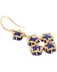 Marie-hélène De Taillac Lapis Lazuli Star Drop Earrings - Lyst