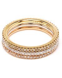 Rosa De La Cruz 18K Gold And Diamond Phalanx Ring gold - Lyst