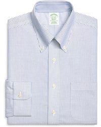 Brooks Brothers Noniron Extraslim Fit Brookscool Bengal Stripe Dress Shirt - Lyst