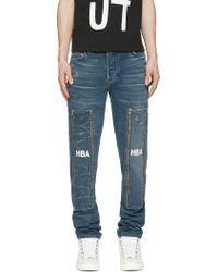 Hood By Air Blue Hyper 3D Zip_Off Jeans - Lyst