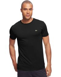 Lacoste Big and Tall Solid Crew-neck Jersey T-shirt - Lyst