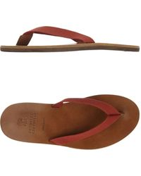 Brunello Cucinelli Thong Sandal - Brown