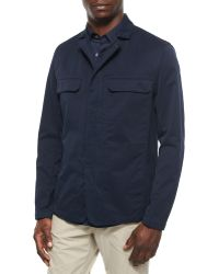 Theory Sango Zip-Up Jacket In Sturdy Fabric - Lyst