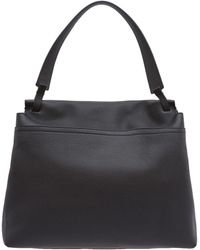 The Row Black Top Handle Bag - Lyst