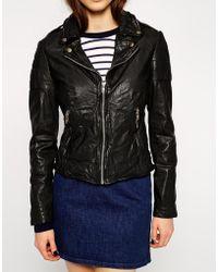 Muubaa Presley Leather Biker Jacket - Lyst